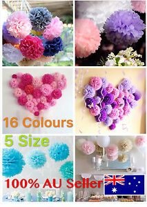 Tissue Paper Pom Poms Flowers Ball Party Wedding Home Baby Shower Event Decor