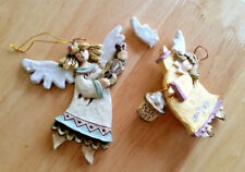 KURT S. ALDER ANGEL CARVED CHRISTMAS ORNAMENTS 2 PIECE SET