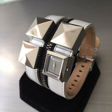 Ladies Karl Lagerfeld Designer Watch EDGE KL2006 White Double Cuff Zip Genuine