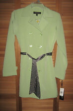 NEW WITH TAGS-WOMENS 1 MADISON COAT-CITRUS GREEN-DOUBLE BREASTED TRENCH--SIZE S