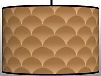Gradient Beige handmade drum lampshade printed fabric floor or ceiling lampshade