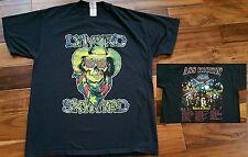 Lynyrd Skynyrd Ass Kickin' Concert T-Shirt Ted Nugent Deep Purple Biker Tee XL