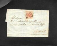 Lombardo Veneto lettera 15 cent da Erba a Milano