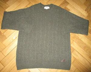 Billabong Grey Fleck Cable Knit Long/S Crew Neck Jumper L