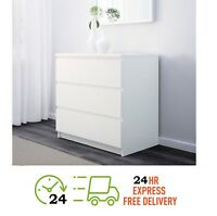 IKEA KULLEN Chest of 3 drawers White 70 x 72 cm