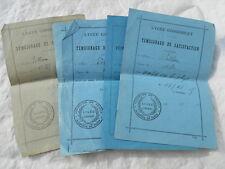 Anciens  papiers Témoignage de Satisfaction Lycée Condorcet 1924