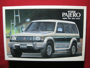 1991 Mitsubishi Pajero V6 Midroof Wide Super Exceed 4WD 1/24 Aoshima Kit 4x4