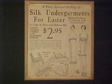 RARE OLD Lady Clothes Undergarment Store Newspaper Print AD~ANTIQUE VINTAGE 1920