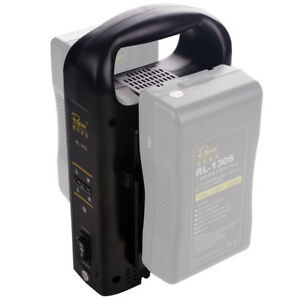 Rolux Dual channel V mount V-lock camera battery charger BP battery charger