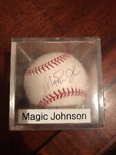 Autographed Baseball Magic Johnson