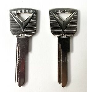Pair Door / Ignition Blank Keys For 1952-1965 Ford Vehicles