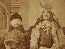 Buffalo Man & SHOSHONE INDIAN CHIEF - Deer Lodge, Montana Territory