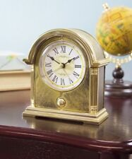 Roman Numeral Burnished Mantel Clock