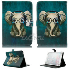 """US For 7.0 7"""" 10.1"""" inch Tablets Universal Leather Case Elephant Pattern Cover"""