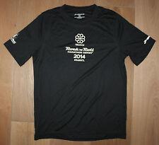 New Mens BROOKS Running Jogging Black White Shirt - Montreal 2014 Marathon - XS