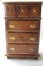 Vintage DollHouse Wooden Cabinet w/ Drawers Furniture Miniature
