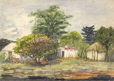 Originale antike Aquarelle (bis 1945) im Realismus-Stil von 1900-1949