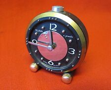 Russian Vintage SLAVA Alarm Clock For Blind 11 Ruby Jewell.