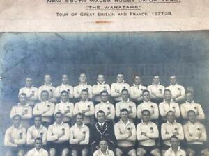 Large Original Photograph The Waratahs NSW Australia Rugby Team 1927-28 Tour