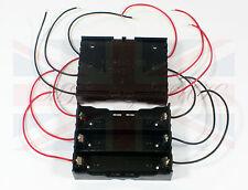 Nuevo hágalo usted mismo plástico de la batería de almacenamiento con 6 conduce Funda Caja Soporte Para 3 X 18650 Del Reino Unido