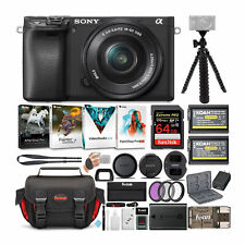 Sony a6400 Mirrorless Digital Camera with 16-50mm Lens Bundle