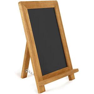 "Altatac Rustic Wooden Framed Free Standing Chalkboard - Brown (16"" x 12"")"