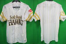2018 Fukuoka Softbank Hawks Baseball Jersey Shirt Coca cola White Majestic NEW L