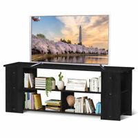 "TV Stand Entertainment Media Center Console Shelf Cabinet for TV's 50"" Black"