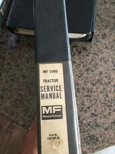 Massey Ferguson 1080 tractor factory Service Manual, operators manual