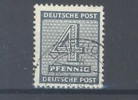 SBZ Mi.Nr. 127 X w b, 4 Pfg. Freimarke 1945 gestempelt, geprüft BPP (31739)