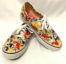 Van's Disney Multi Princess Size 7.5 Low Top Fashion Collectible Canvas Sneakers