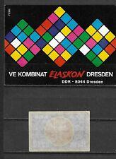 MATCHBOX LABELS- GERMANY. Elaskon Dresden, packet size label, Riesa