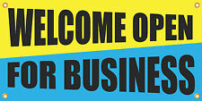 Welcome Open For Business 2'x4' Vinyl Retail Banner Sign