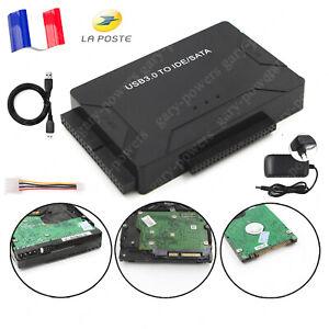 """Convertisseur USB 3.0 Vers IDE / SATA Pour Disque Dur 2,5 """"/ 3,5"""" Kit Adaptateur"""