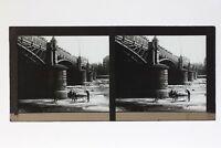 Fiume Colore Ville A Identificare Foto Stereo T2L4n Placca Da Lente Vintage