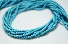 5 Strand Howlite Turquoise 2.50 MM Faceted Round Gemstone Chinese Beads 15 Inch