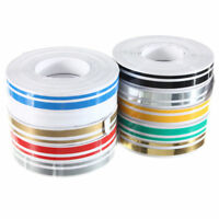 1 roll 12mm x 9.8m Double Pin Striping Stripe ABS Tape Decal Sticker Car 1/ E1O0