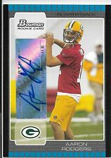 2005 Bowman Rookie Autograph #112 Aaron Rodgers RC AUTO SIGNATURE GB PACKERS SP