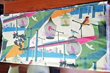 "Lotta Kuhlhorn Bird Cages City Fabric 2008 Ikea of Sweden 60"" x 108"" Cotton rare"