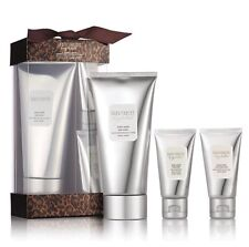 NIB Auth LAURA MERCIER 3-Pc Le Home & Away Ambre Vanillé Body & Bath Collection