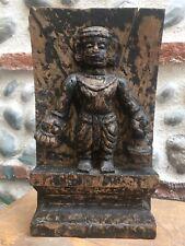 Ancien Très Belle Patine Sculpture Bois Sculpté Bas Relief Temple Asie Inde?