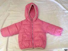 EMC - Giubbotto imbottito con cappuccio - colore rosa - taglia 12 mesi - USATO
