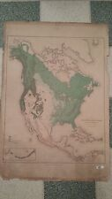 1883 US Map Showing Position of the Forest, Prairie & Treeless Regions in NA