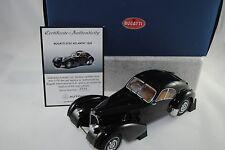 1:18 Autoart Bugatti 57sc Atlantic 1938 #70941 black with disc Wheels nuevo/en el embalaje original
