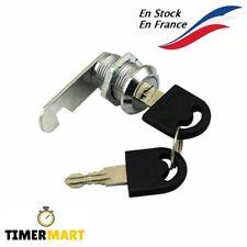 Serrure batteuse Boite aux Lettres Casier Tiroir à clé métal 20 mm.