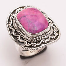 925 Sterling Silver Ring Size US 6.5, Pink Sugilite Gemstone Jewelry CR2539