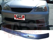 Mugen Style Front Lip for 2001 -03 Honda Civic 2/4dr Unpainted Polyproplyene