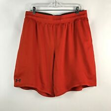 Men's Under Armour Shorts Loose Fit Xl orange Running Gym Basketball Casual Ua