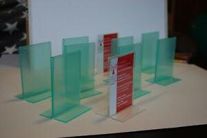 Tischaufsteller SET mit 10 Stück, teilweise mit grüner Schutzfolie