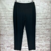 J. Jill Wearever Size Large Smooth Fit Slim Leg Black Pull On Pants